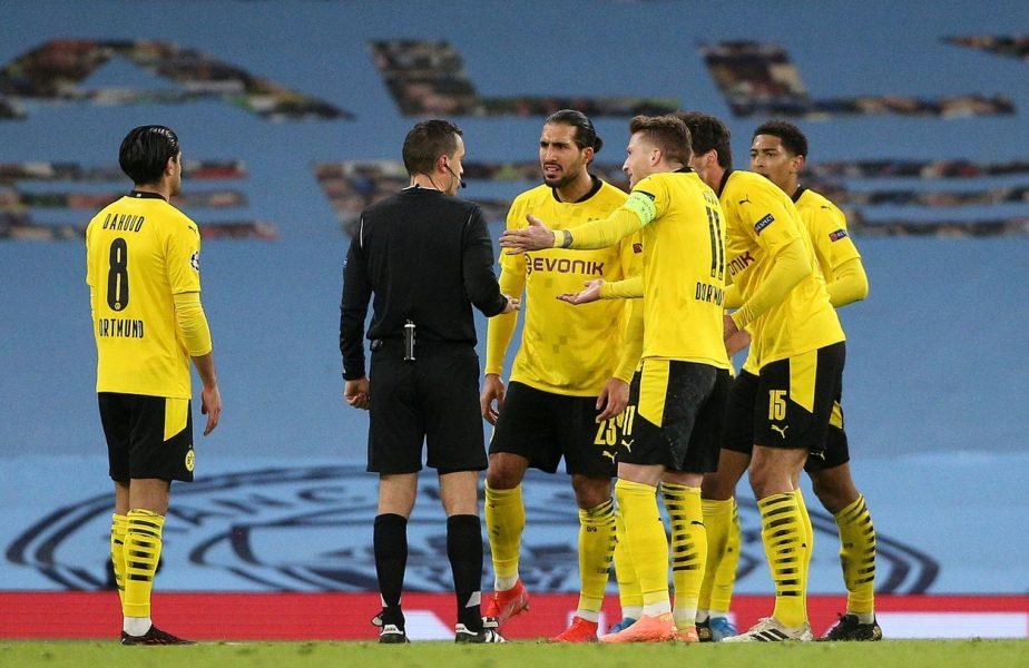 """Ovidiu Haţegan, făcut praf de un star de la Dortmund chiar în timpul meciului: """"Ar trebui să meargă la un control!"""" Atacuri în valuri la adresa românului"""