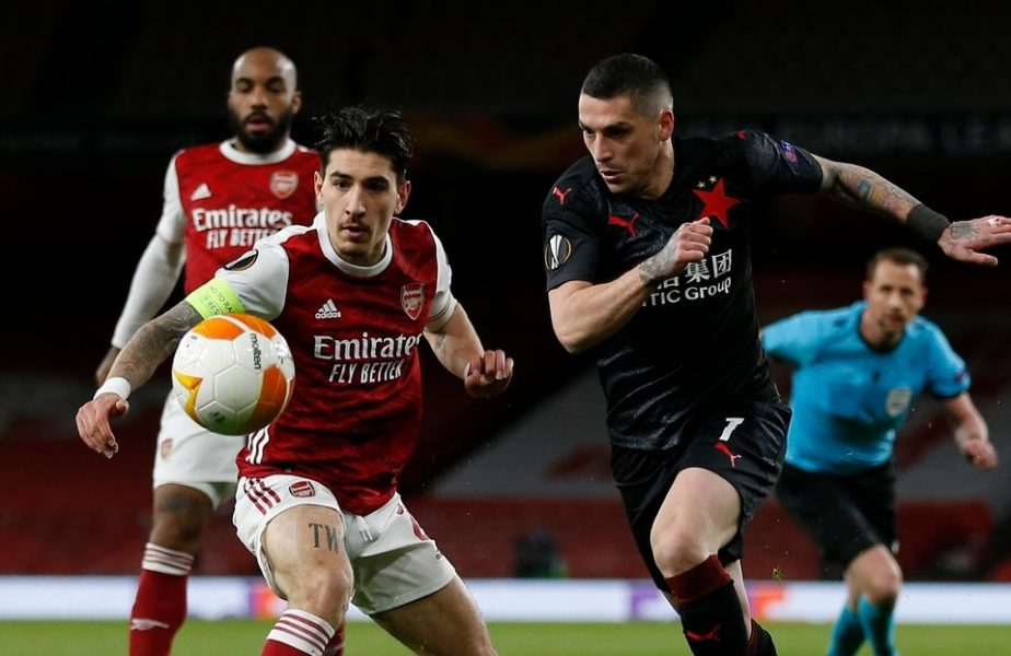 Arsenal – Slavia 1-1 | Ce notă a primit Nicolae Stanciu după egalul dramatic de pe Emirates. Cehii, favoriţi la calificarea în semifinalele Europa League