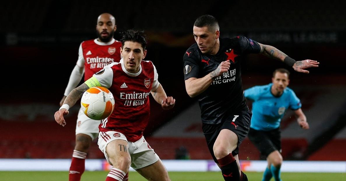 Nicolae Stanciu, în Arsenal - Slavia 1-1