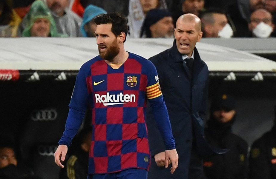 Real Madrid – Barcelona | Zinedine Zidane, mesaj direct pentru Leo Messi înainte de El Clasico. Ce i-a transmis starului argentinian