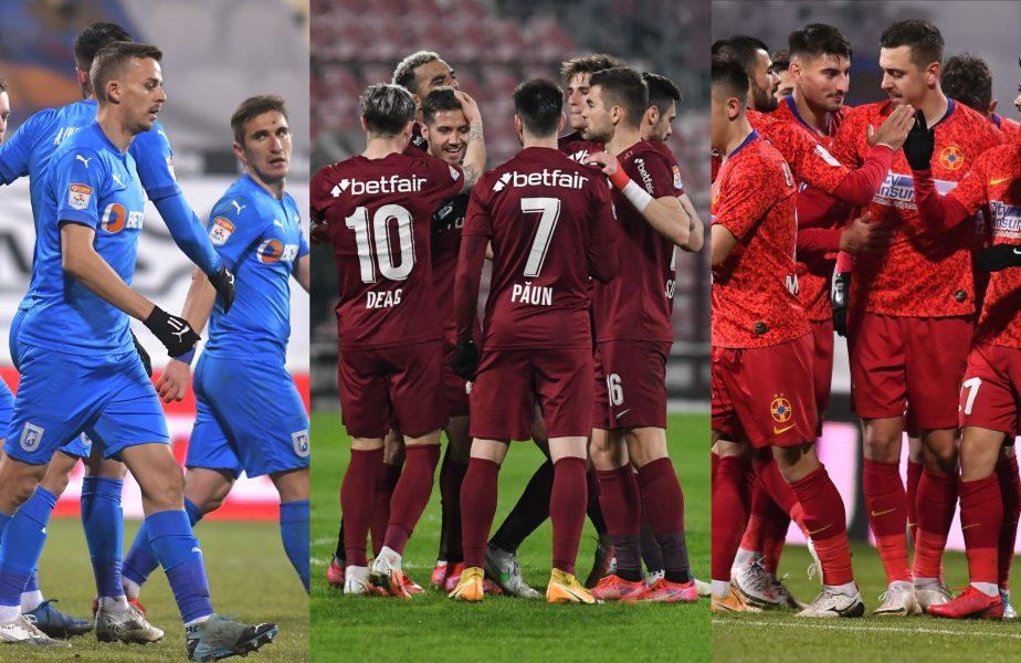 Avantajul uriaş pe care CFR îl are faţă de FCSB şi Universitatea Craiova, în lupta pentru titlu. Ce se întâmplă dacă cele 3 echipe termină play-off-ul la egalitate de puncte