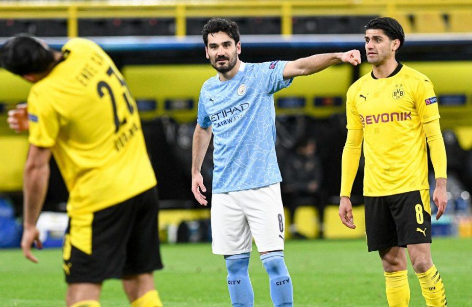 """Emre Can s-a făcut de râs! I-a făcut """"cadou"""" un penalty lui Manchester City. Mijlocaşul Borussiei a """"îngropat-o"""" pe Borussia Dortmund"""