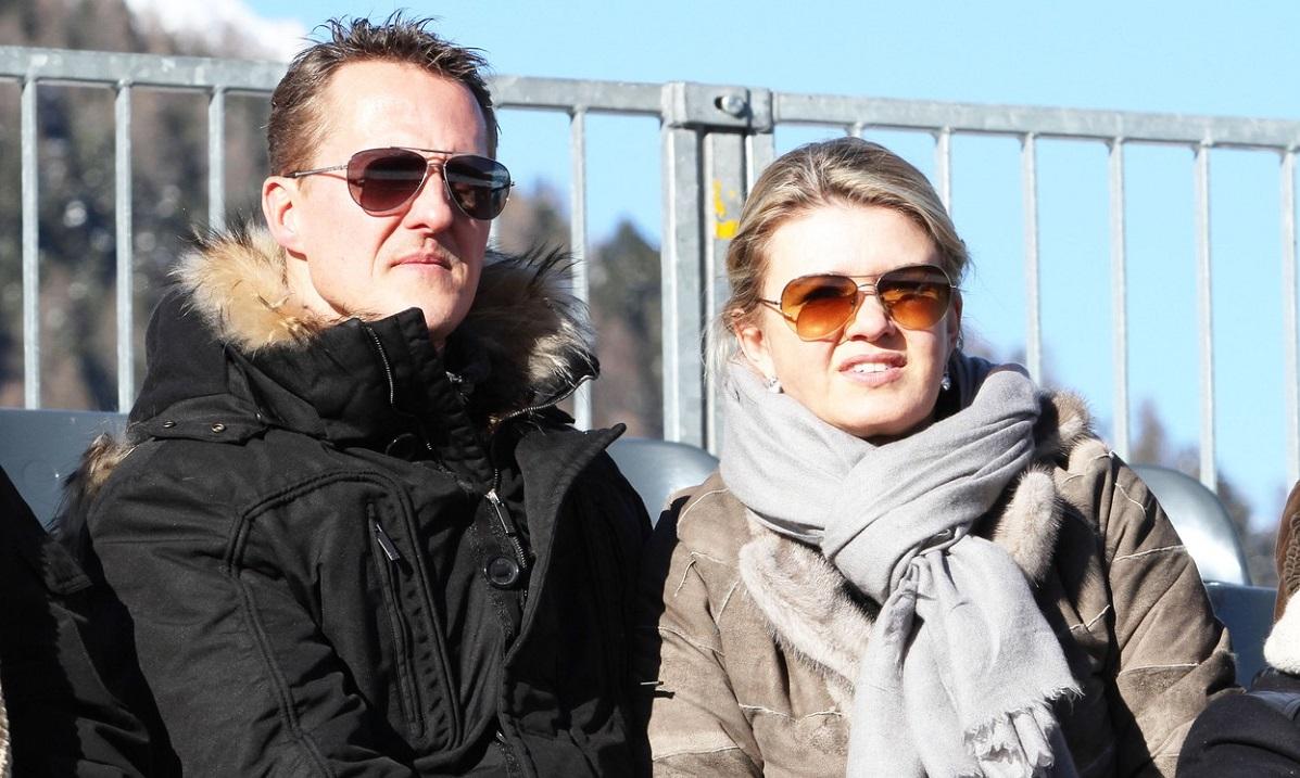 Corinna Schumacher şi Michael Schumacher, într-o fotografie realizată în 2012