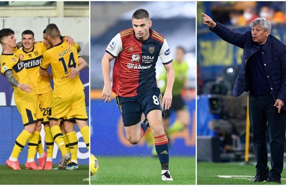 VIDEO | Cagliari – Parma 4-3. Dramă în Italia! Man şi Răzvan Marin au marcat în cel mai nebun meci din Serie A. Parma a pierdut dramatic cu două goluri primite în prelungiri. Lucescu, aproape de titlu