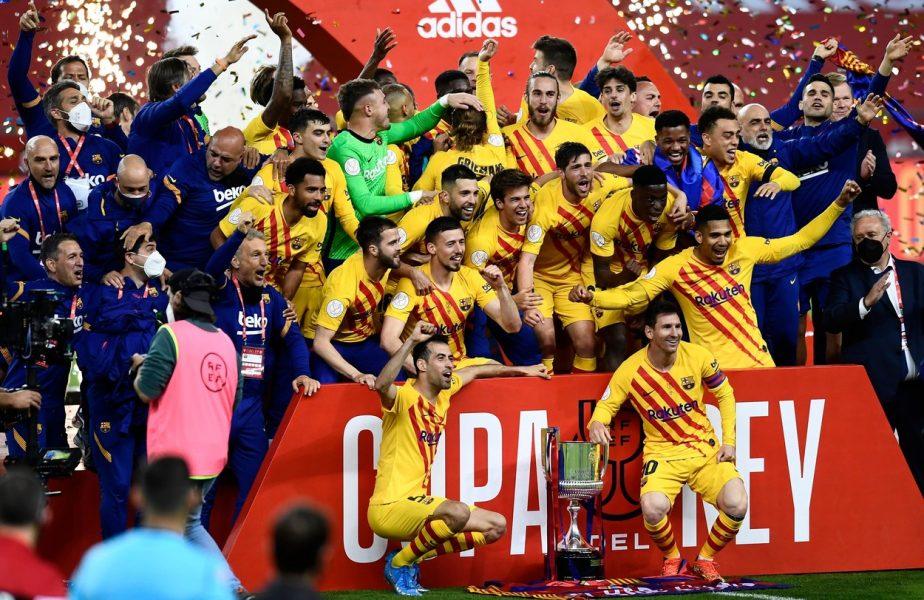 """Athletic Bilbao – Barcelona 0-4! Catalanii au câștigat Cupa Spaniei! Echipa lui Koeman i-a demolat pe basci. """"Dublă"""" de senzaţie a lui Messi"""