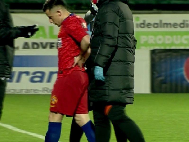 """Olimpiu Moruţan s-a accidentat în FCSB – FC Botoşani! """"Perla"""" lui Becali a acuzat dureri şi a cerut singur schimbare"""