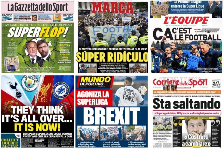 """R.I.P. SUPERLEAGUE! De la """"Brexit"""", la """"Super Ridicol"""", presa internațională ironizează competiția """"bogaților"""""""
