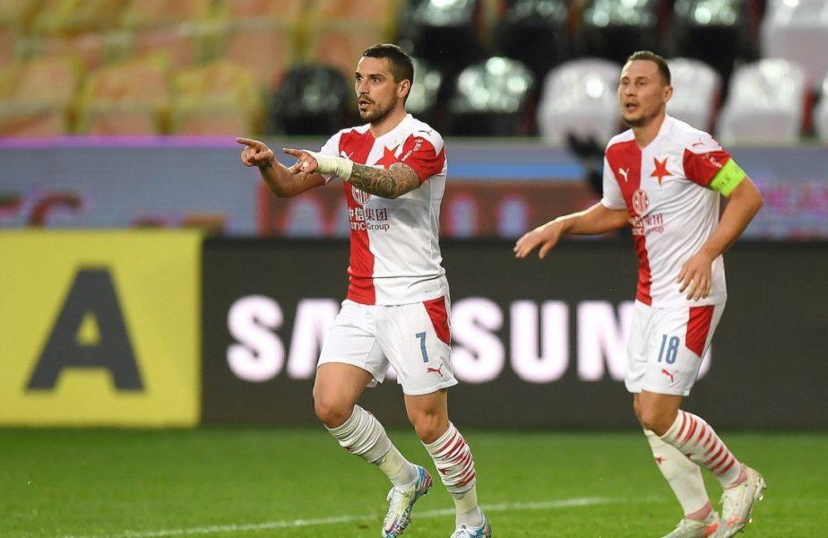 VIDEO | Nicolae Stanciu, încă un gol pentru Slavia Praga! Românul a înscris superb și e aproape campion în Cehia