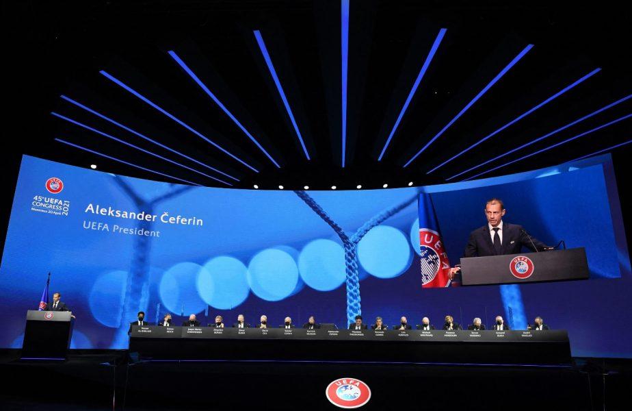 UEFA anunţă sancţiuni pentru cluburile care au înfiinţat Super Liga Europei. Ce se întâmplă cu semifinalele Ligii Campionilor