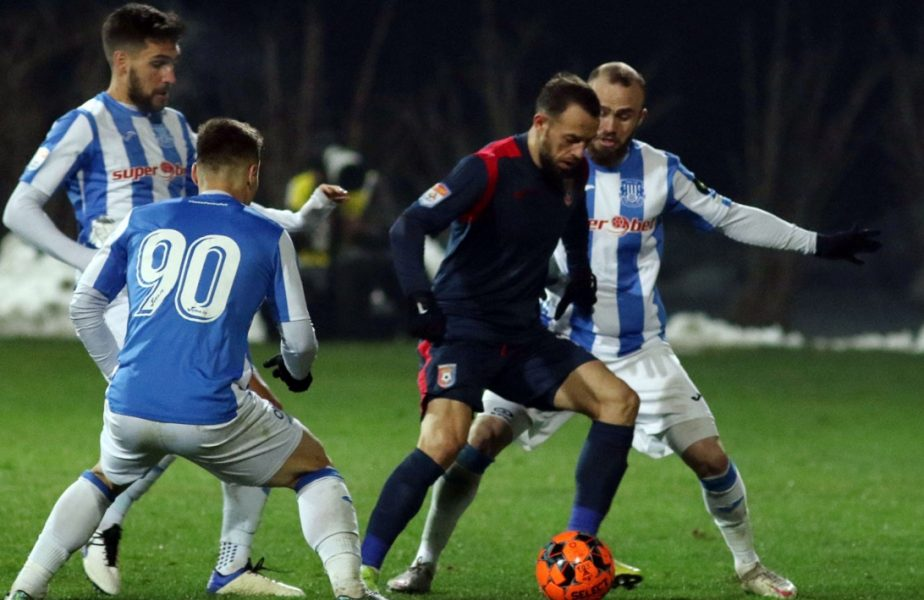 """Chindia – Poli Iași 2-0. Florea, """"dublă"""" de senzaţie! Jucătorii lui Emil Săndoi, parcurs perfect în play-out"""