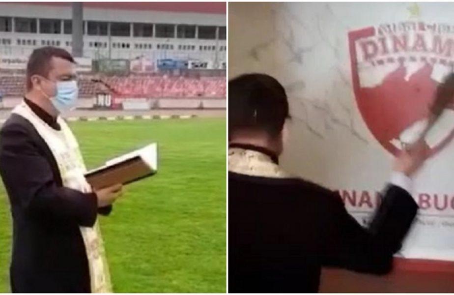 Dinamoviştii calcă pe urmele lui Gigi Becali! Au chemat preotul la stadion pentru a-i ajuta să scape de la retrogradare