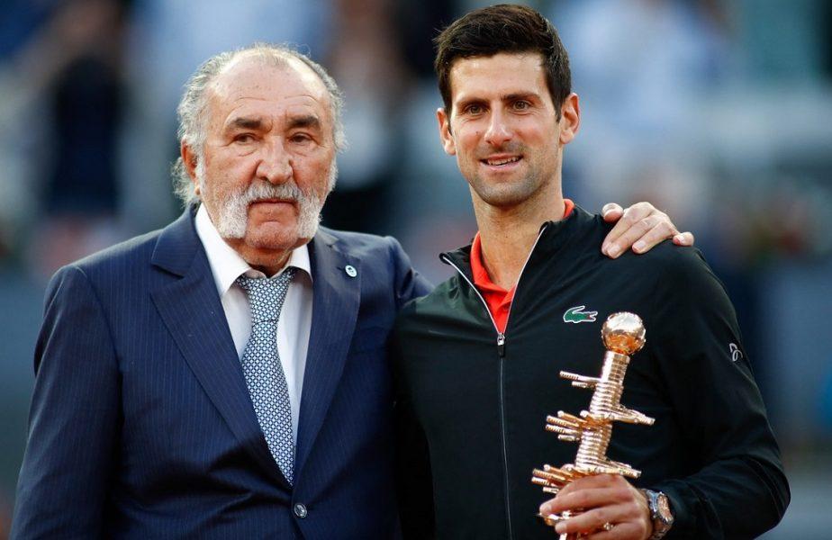 Madrid Open 2021 | Lovitură dură primită de Ion Ţiriac. Liderul mondial, Novak Djokovic, va absenta la ediţia din acest an