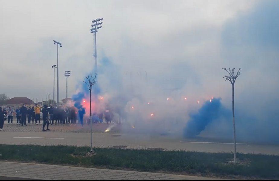 Universitatea Craiova – FCSB | Atmosferă senzaţională în Bănie! Fanii olteni au dat recital înaintea derby-ului VIDEO
