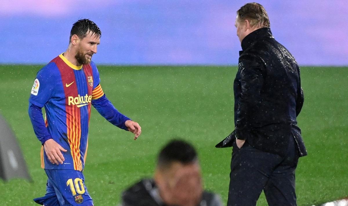 Ronald Koeman şi Leo Messi