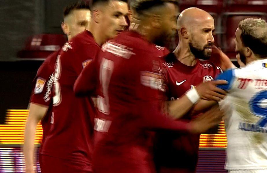 Iasmin Latovlevici şi-a pierdut minţile în CFR Cluj – FC Botoşani 2-0! I-a aplicat o corecţie lui Al Mawas. Amândoi au văzut roşu în faţa ochilor!