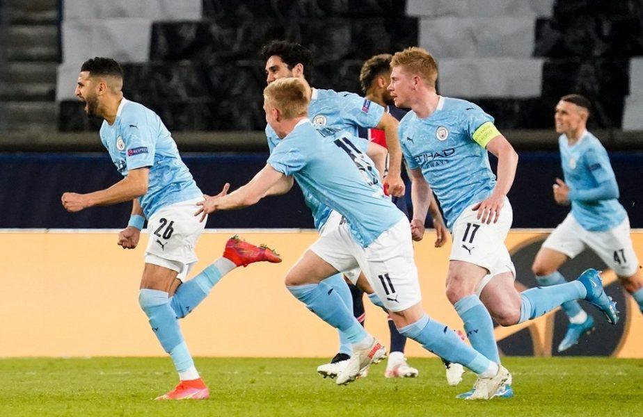 """PSG – Manchester City 1-2. """"Cetăţenii"""" sunt cu un pas în finala Champions League, după ce au întors scorul în 7 minute. Starurile lui Guardiola au lăsat Parisul în beznă!"""