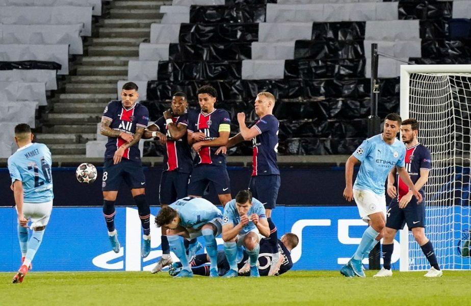 """O execuţie greşită a adus victoria în PSG – Manchester City 1-2! Dezvăluirea inedită făcută de Mahrez: """"Am vrut să dau pe lângă zid"""""""