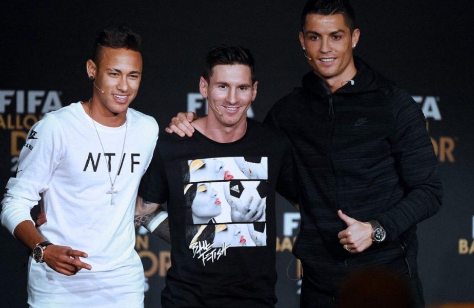Cea mai mare dorință a șeicilor! Messi și Ronaldo, lângă Neymar la PSG. De ce planul monstruos nu poate fi aplicat