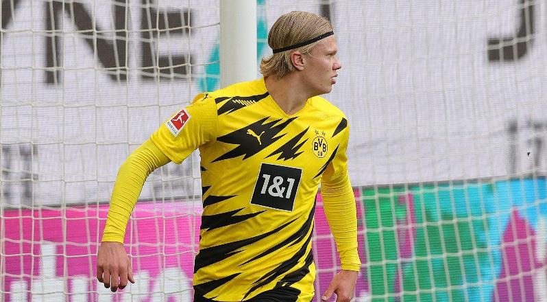 Erling Haaland, în timpul unui meci