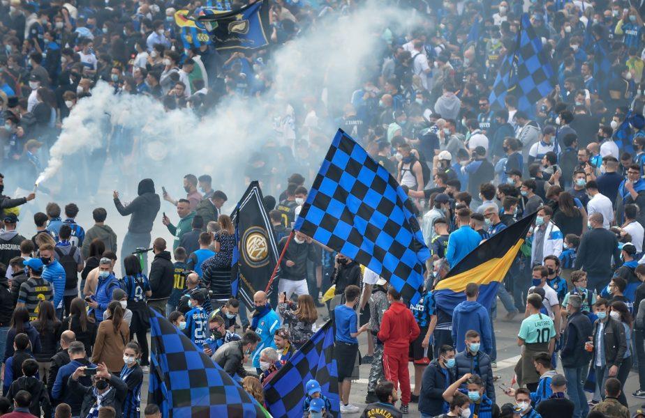 Scandal uriaş la Milano. 30.000 de fani ai lui Inter au sărbătorit câştigarea titlului, în plină pandemie. Nu s-au respectat regulile de distanţare