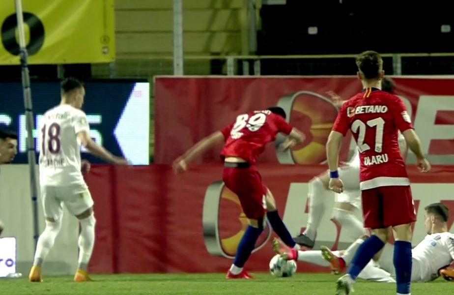 FCSB – CFR Cluj   Greşeală uriaşă de arbitraj la derby. Radu Petrescu nu a acordat penalty clar! Edi Iordănescu a înnebunit şi a protestat vehement!