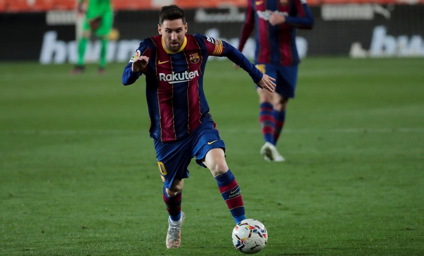 Lionel Messi, în timpul unui meci