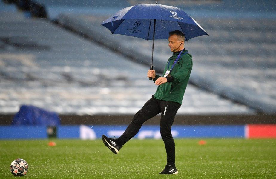Manchester City – PSG | Vremea a pus în pericol meciul din semifinalele Champions League! În Anglia a plouat cu gheaţă. Imagini surprinzătoare de pe Etihad