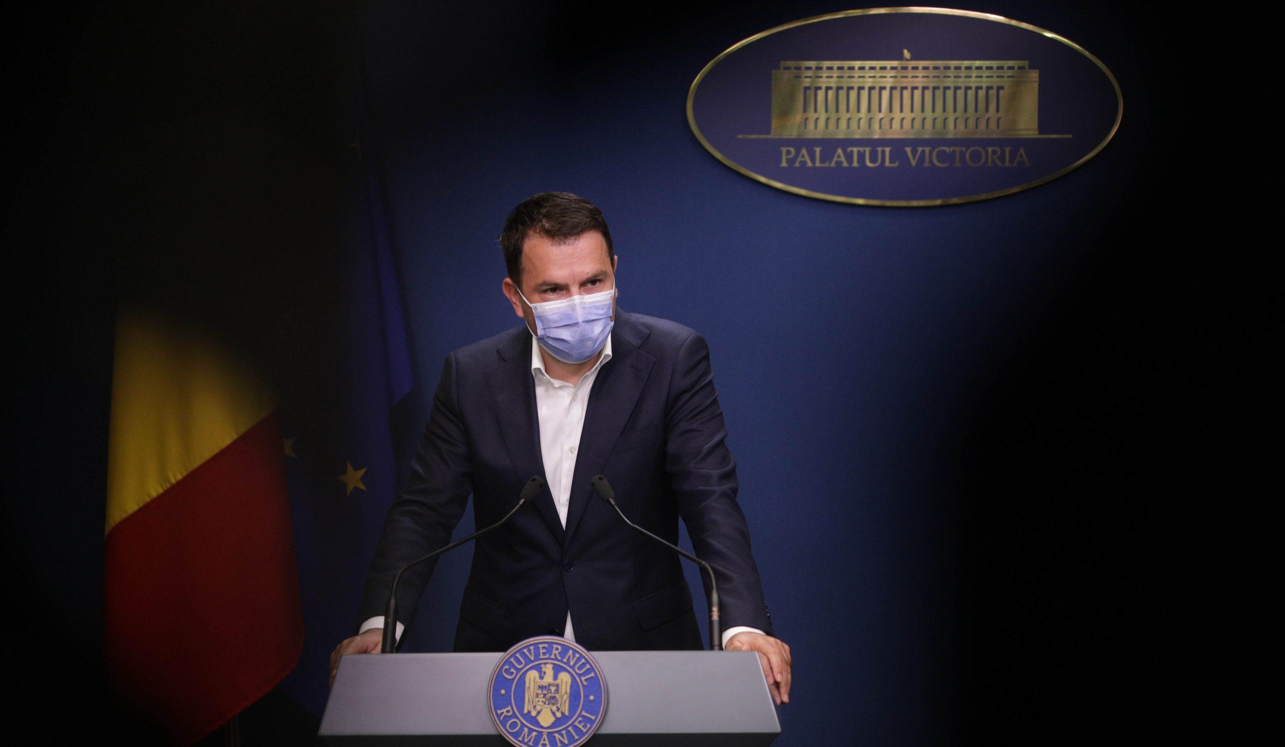 Florin Cîţu, în cadrul unei conferinţe de presă