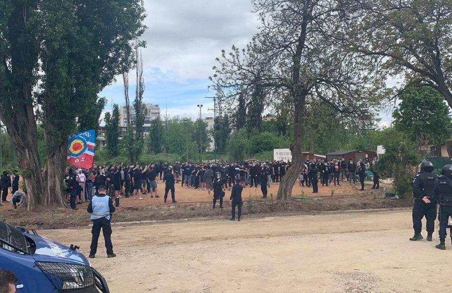 Mostiştea Ulmu – CSA Steaua | Ultraşii stelişti, susţinere necondiţionată! Au creat o atmosferă de zile mari la barajul de promovare în Liga 2