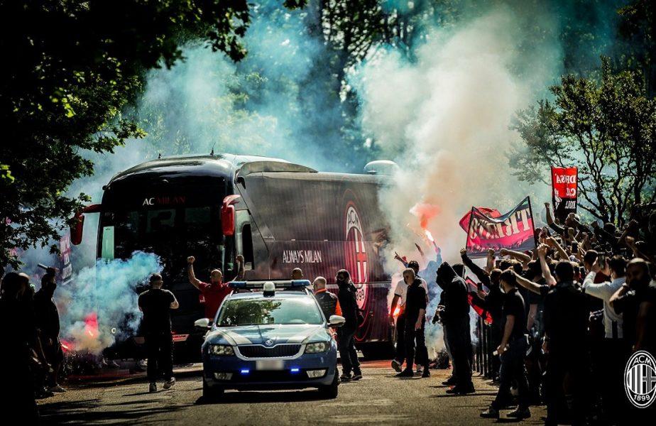 VIDEO | Imagini fabuloase înainte de Juventus – AC Milan. Jucătorii lui Pioli, aşteptaţi de ultraşi într-o atmosferă de zile mari. Derby-ul are o miză uriaşă!