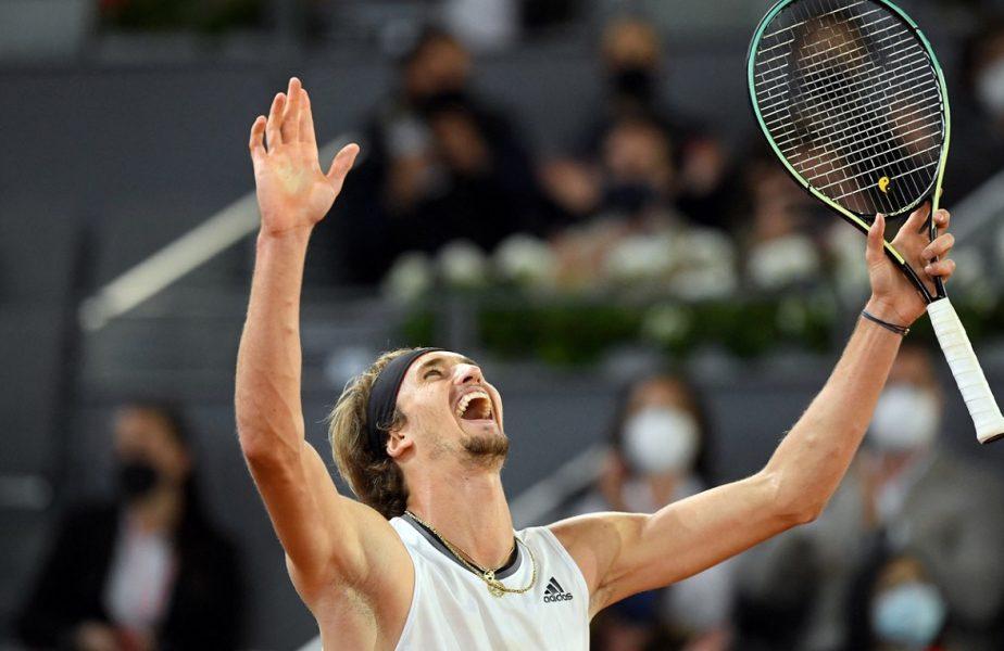 Madrid Open 2021| Alexander Zverev a făcut show de ziua lui Ion Ţiriac. Germanul a luat trofeul după o revenire spectaculoasă