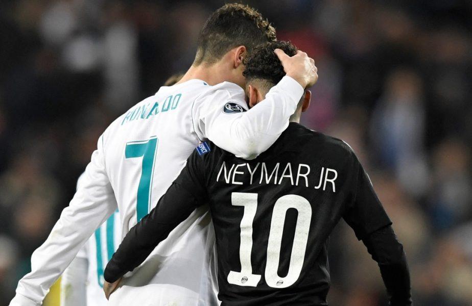 Neymar, alături de Cristiano Ronaldo