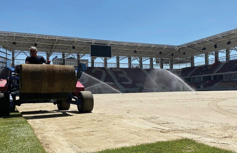 FOTO | Stadionul Rapid, aproape gata! Imagini cu noul gazon. La cât vor ajunge costurile totale