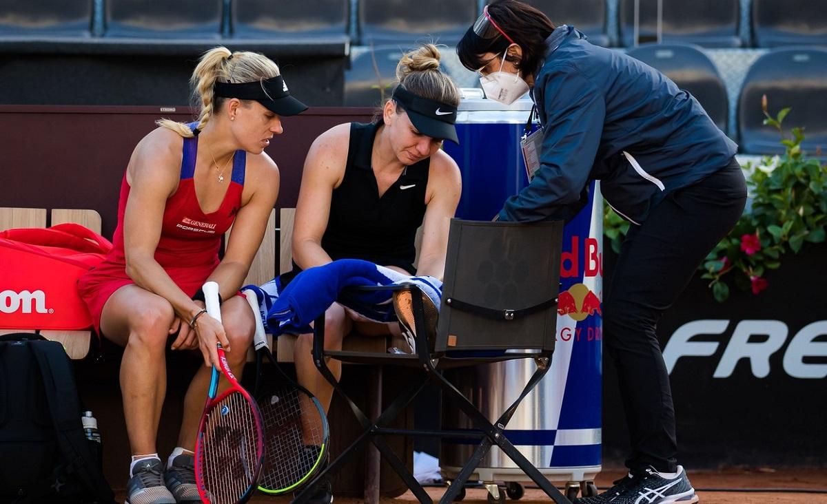"""Simona Halep, mesaj superb de la Angelique Kerber: """"Mi-a părut atât de rău!"""" Avertismentul WTA după accidentarea româncei"""