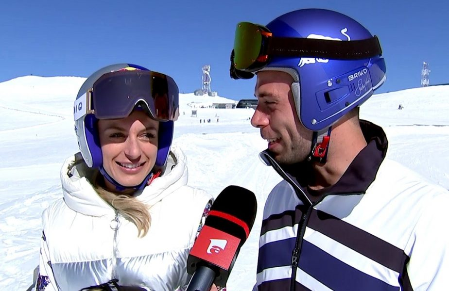 VIDEO EXCLUSIV | Ana Bogdan şi Simone Tempestini, iubire la cota 2.000! Frumoasa din tenis s-a urcat pe schiuri de Dragobete. Ce vrea să facă, dacă va avea copii