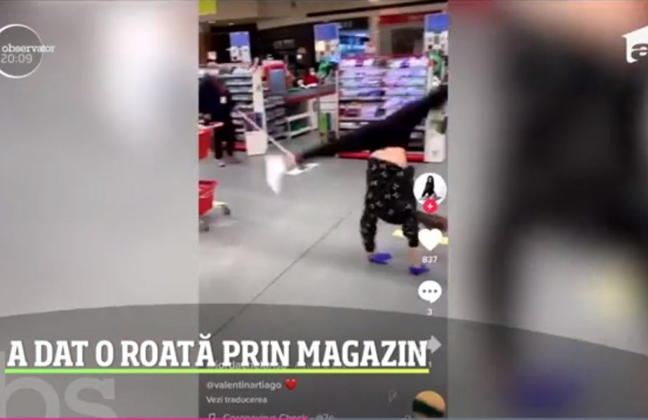 Larisa Iordache a făcut roata într-un supermarket