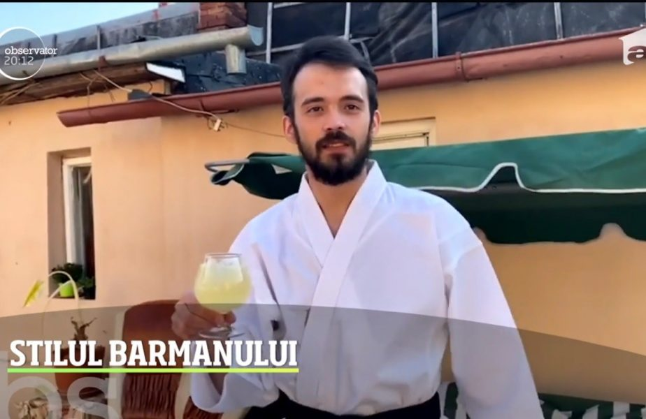 Are centura neagră la karate şi face senzaţie ca barman