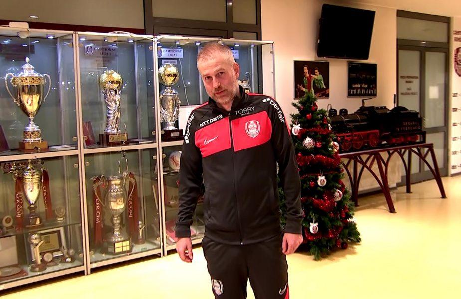 VIDEO EXCLUSIV | Emoționant! Edi Iordănescu a atins pentru prima dată trofeul cucerit cu CFR. Ce şanse crede că are la titlu şi ce îi lipseşte cel mai mult!