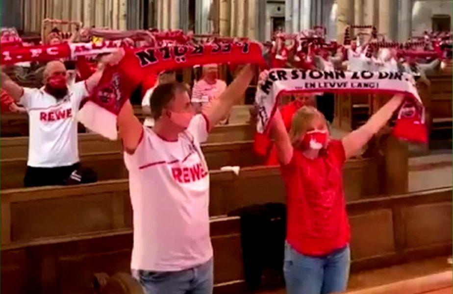 Se spune ca fotbalul e o religie! Fanii lui Koln intaresc aceasta idee!