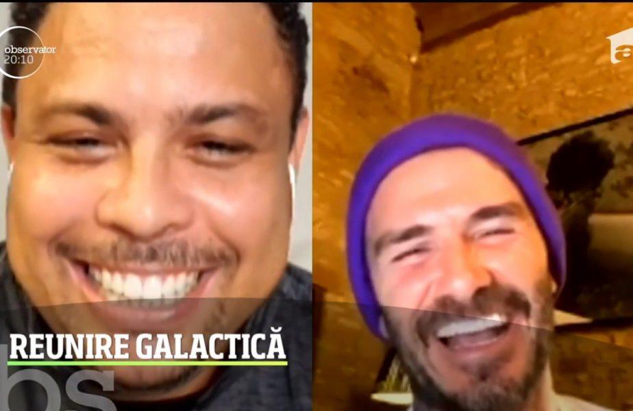 Galacticii Ronaldo, Beckham, Figo si Roberto Carlos s-au reunit pe Internet