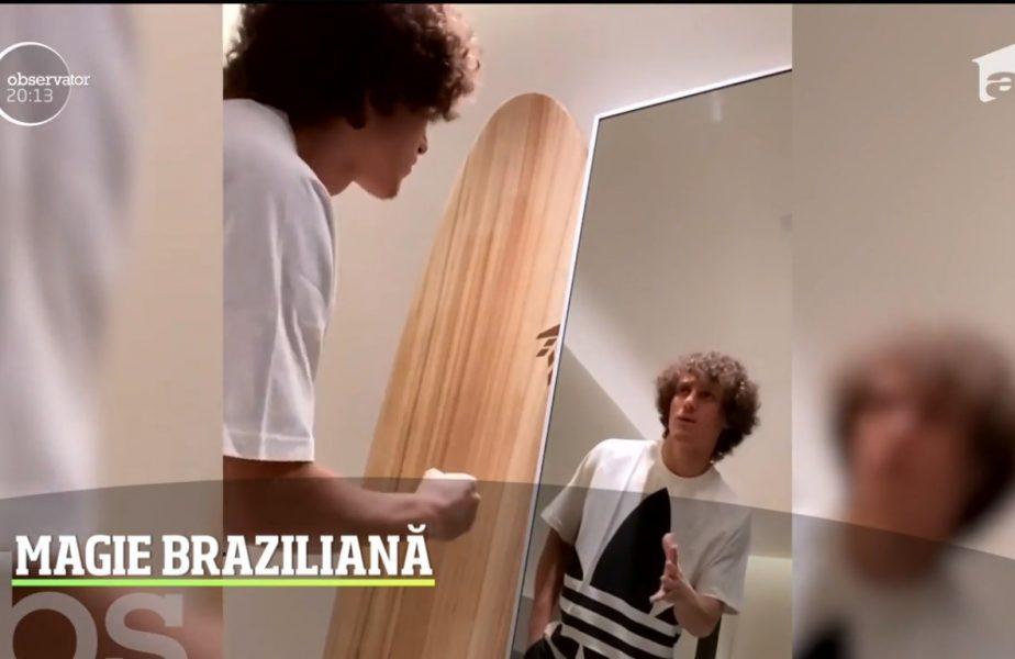 David Luiz  s-a jucat singur in fata oglinzii şi, culmea, a pierdut!