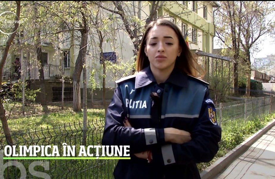 Larisa Iordache a îmbrăcat uniforma de agent în Poliţia Română