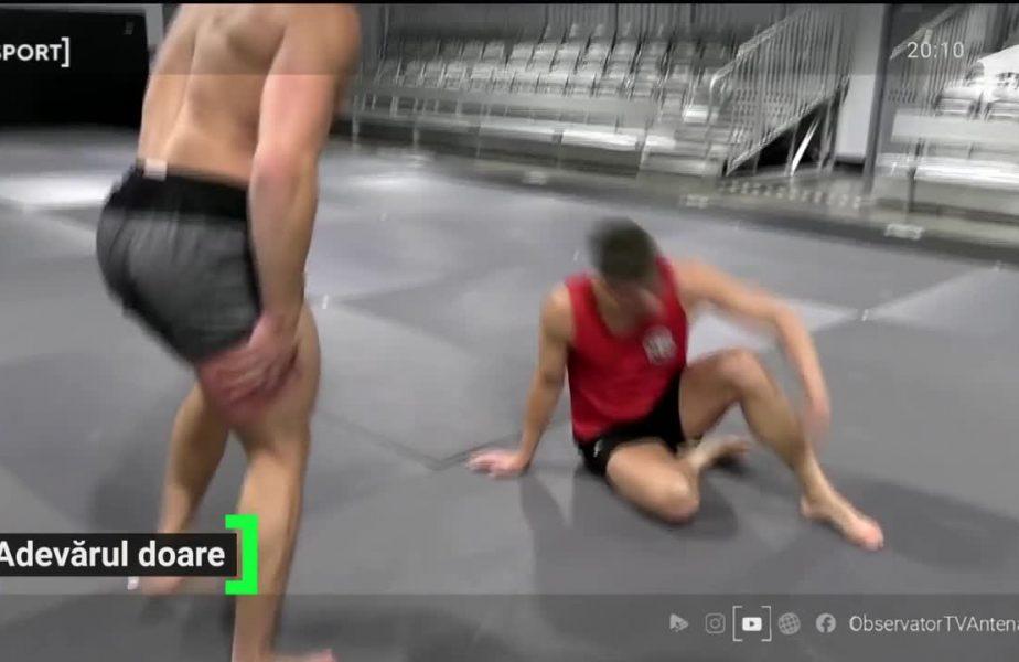 Un culturist le testeaza loviturile durilor din UFC