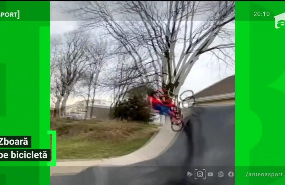 Zboară pe bicicletă