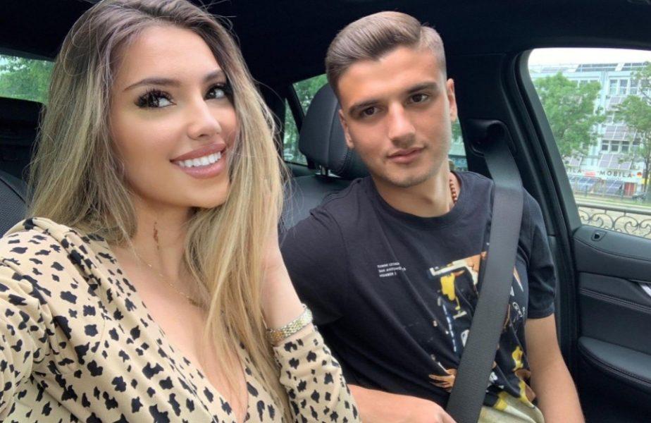 VIDEO EXCLUSIV Încântă și fanii fotbalului! Iubita lui Nedelcu vrea să facă un imn pentru FCSB! Aza este una dintre cele mai bune voci din România