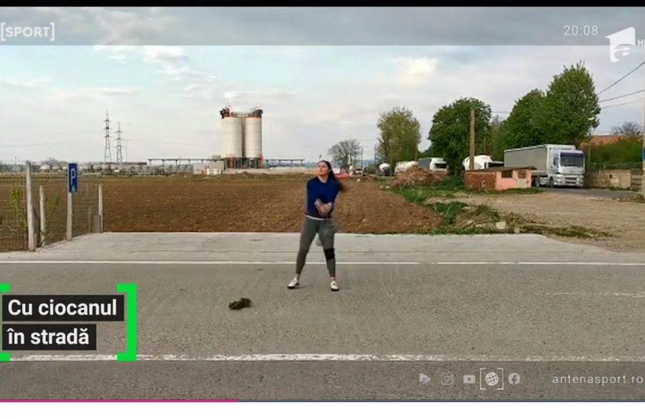 EXCLUSIV | Atleta Bianca Perie aruncă cu ciocanul în stradă, ca să ajungă la olimpiadă!