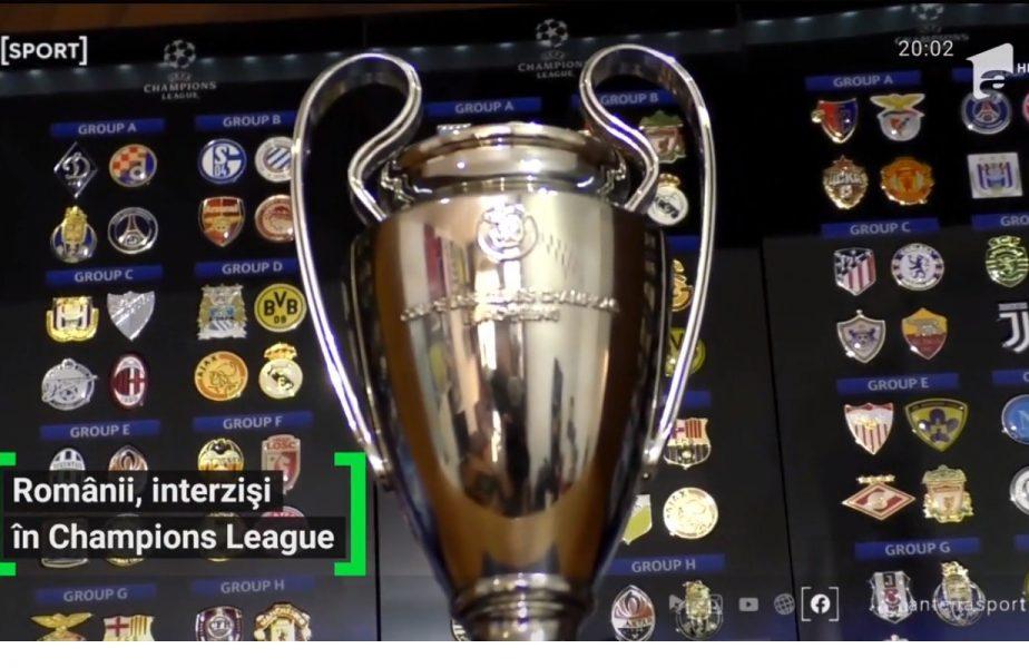 Românii, interziși în Champions League