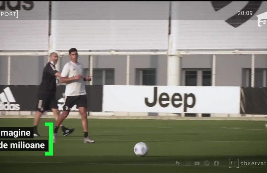 Românul de la Juventus, Drăguşin, s-a antrenat cu Ronaldo