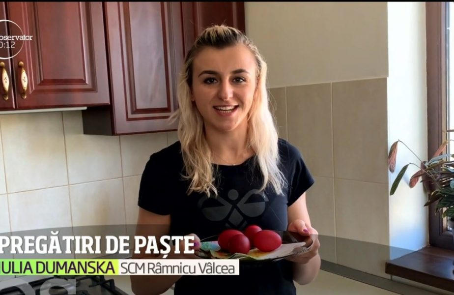 Pregătiri de Paște pentru portărița naționalei, Iulia Dumanska