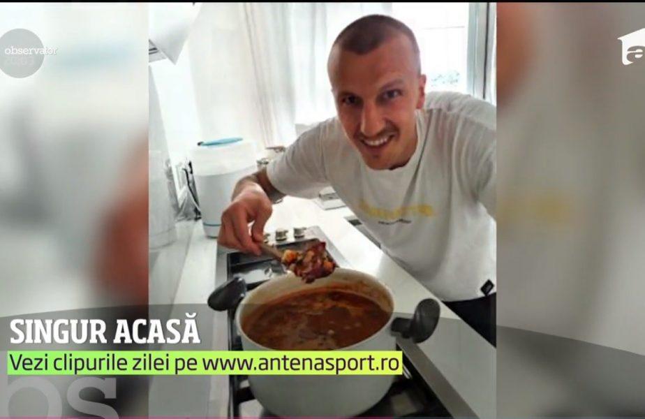 Căpitanul naționalei, Chiricheș, singur acasă de 22 de zile